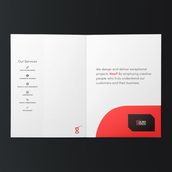 Clean document folder design