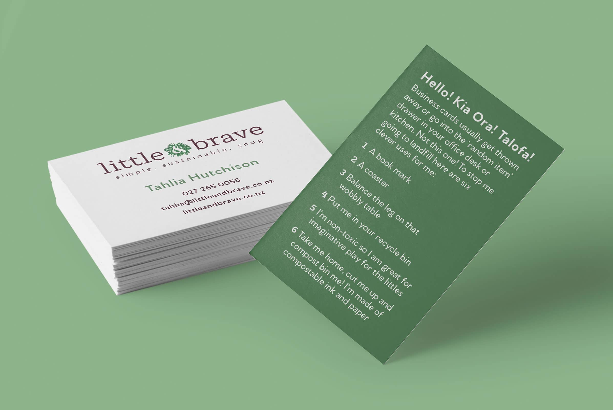 Eco friendly business cards in NZ