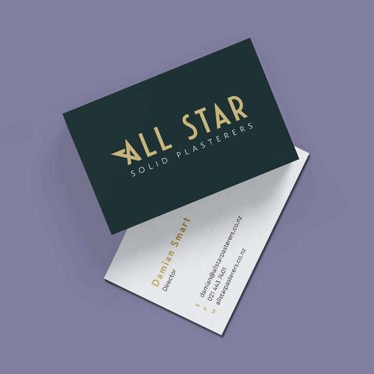 Branding for plasterers business cards