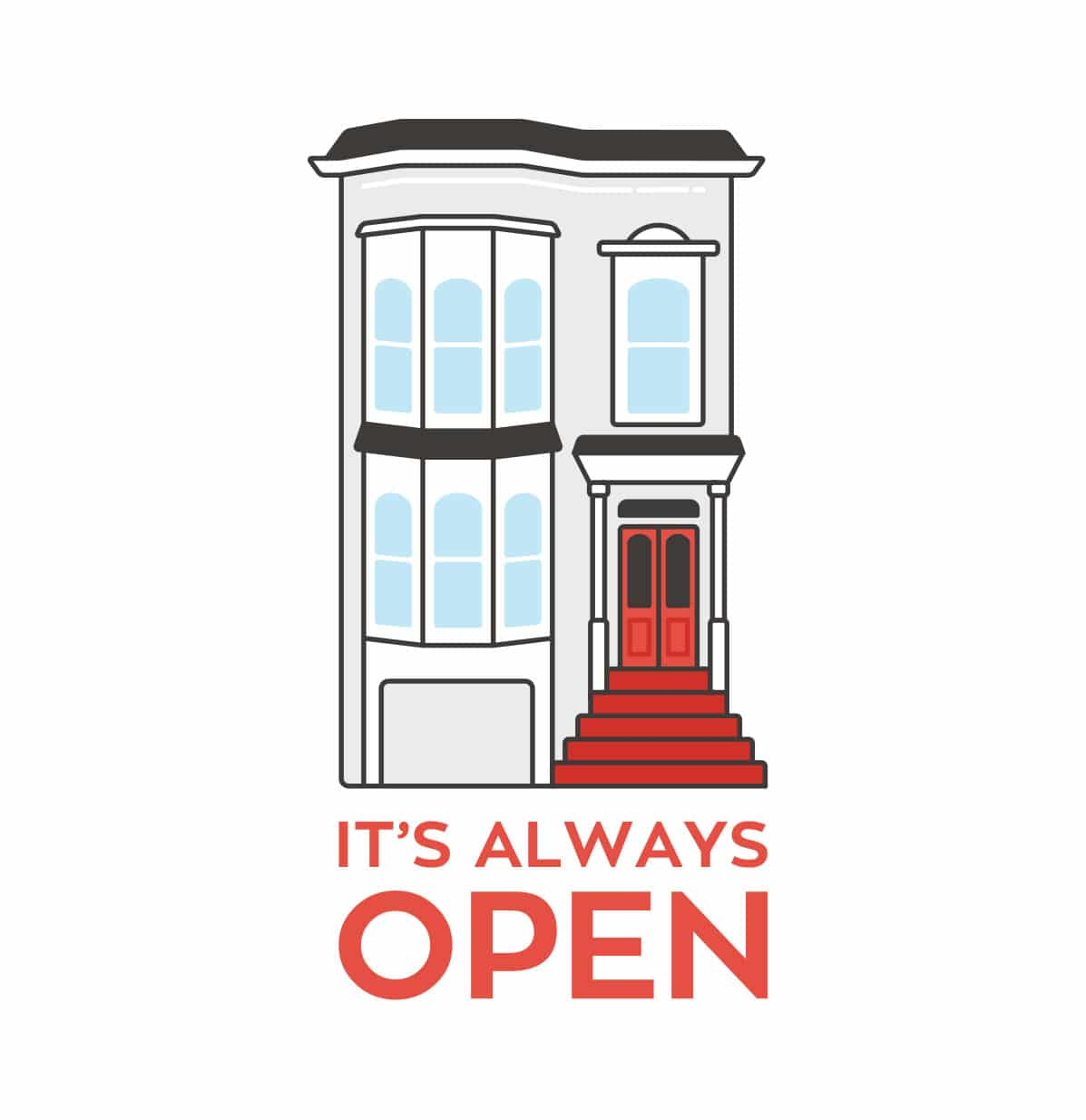 It's always open Fuller House illustration