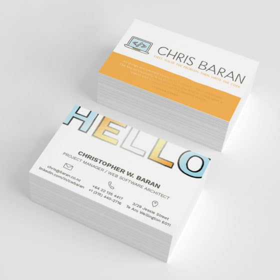 Spot UV business cards Auckland