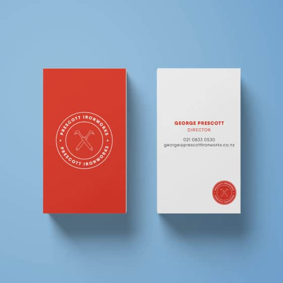 Vertical business cards design