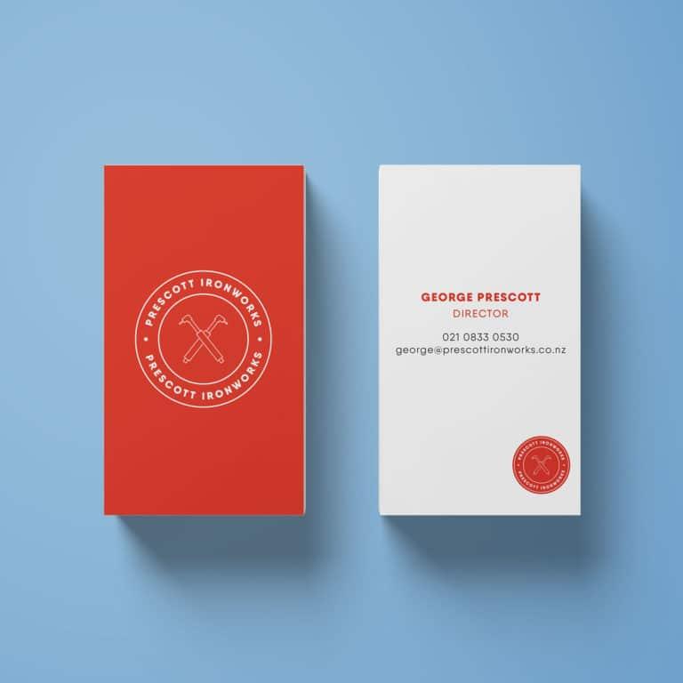 Vertical business cards design