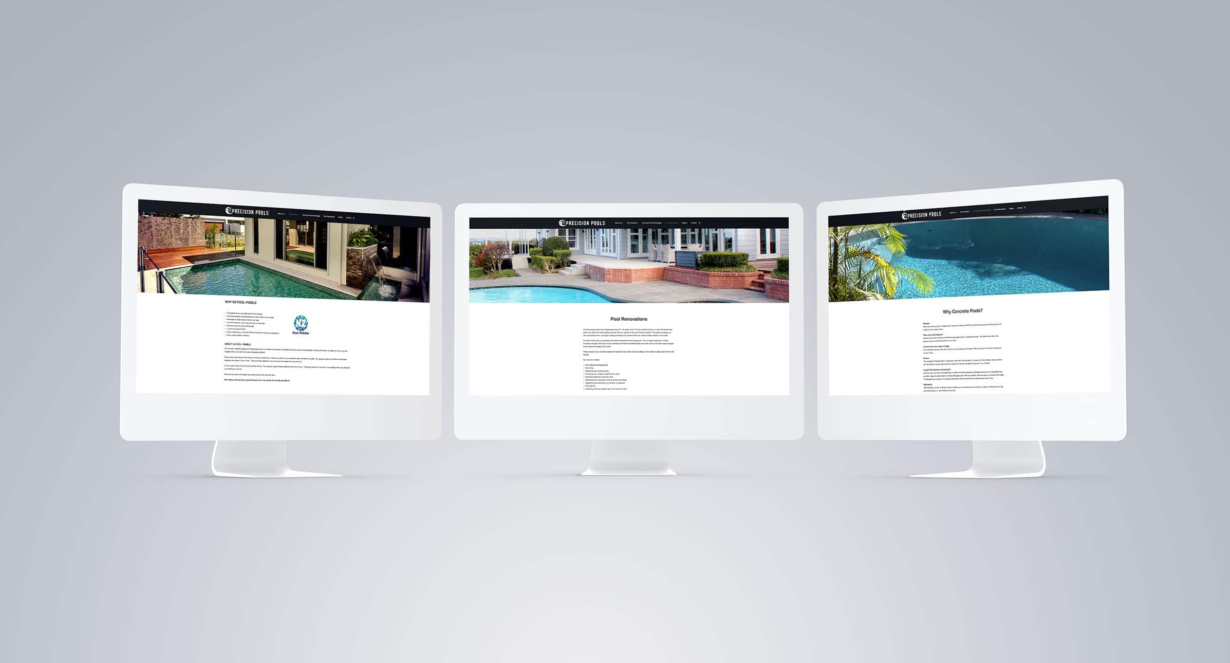 Clean modern website design in Auckland
