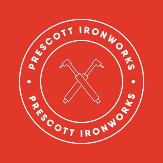 Logo for ironworks company
