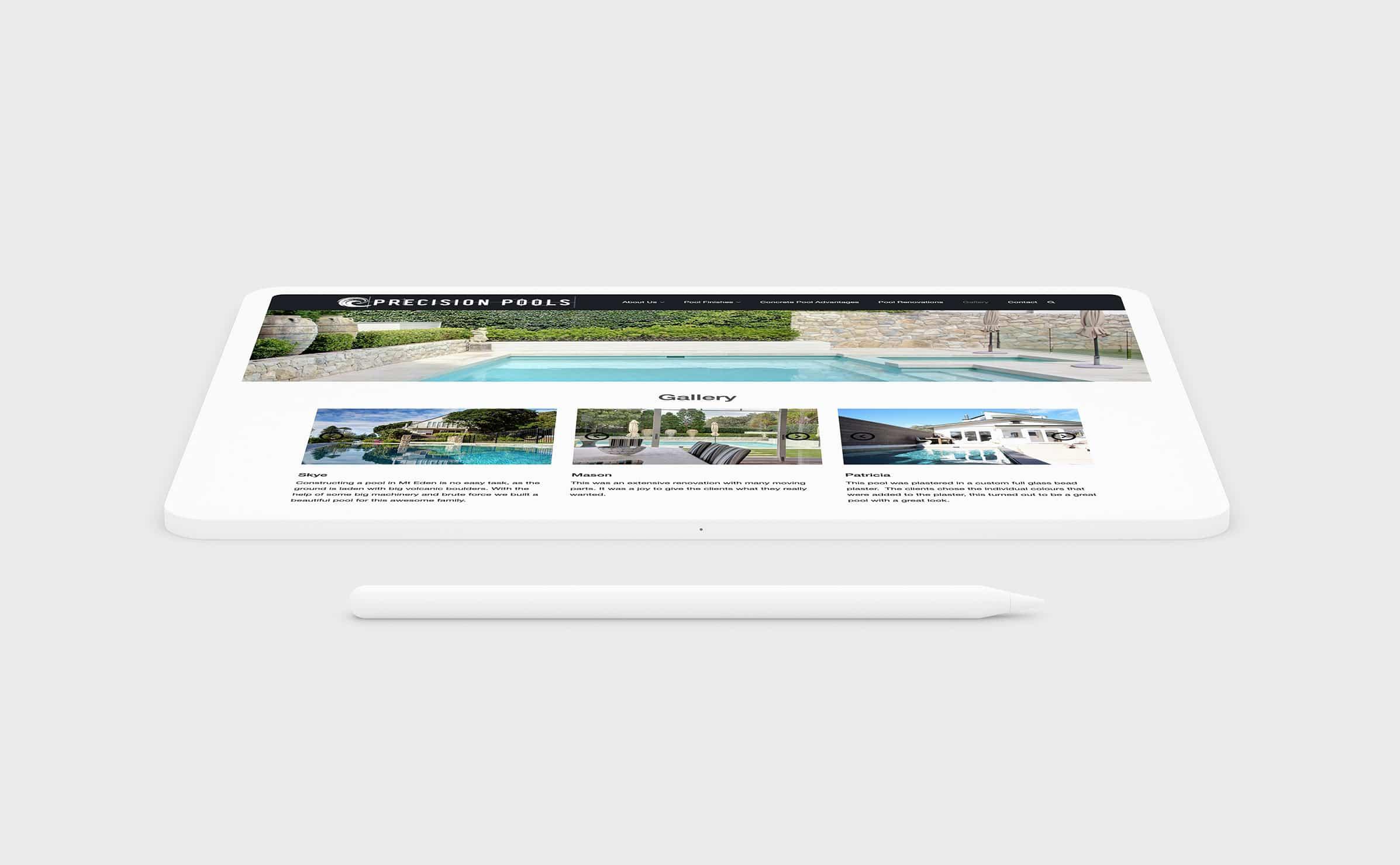 Pool website design NZ