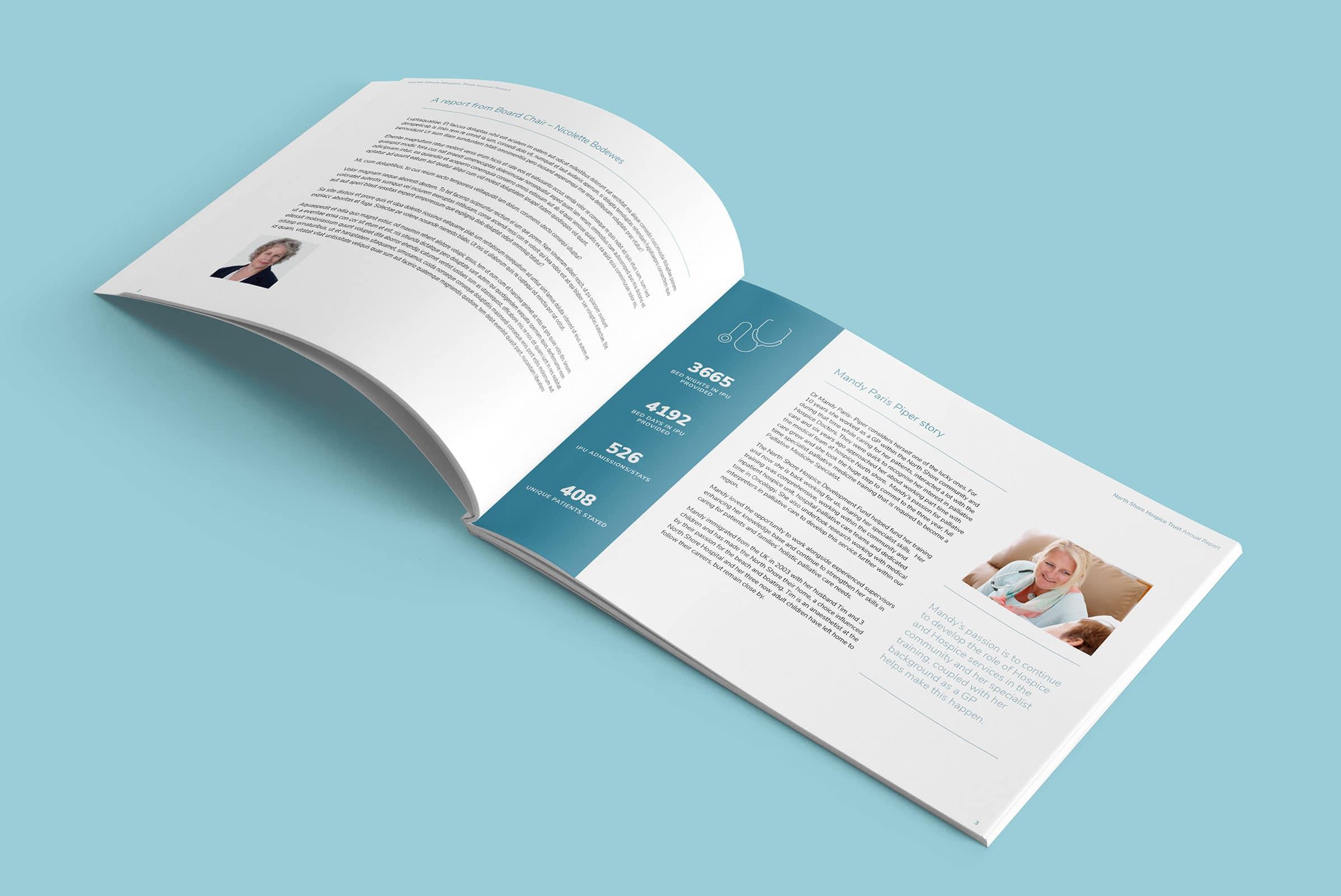 Annual report design for NZ company