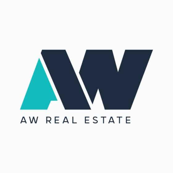 A w letters logo
