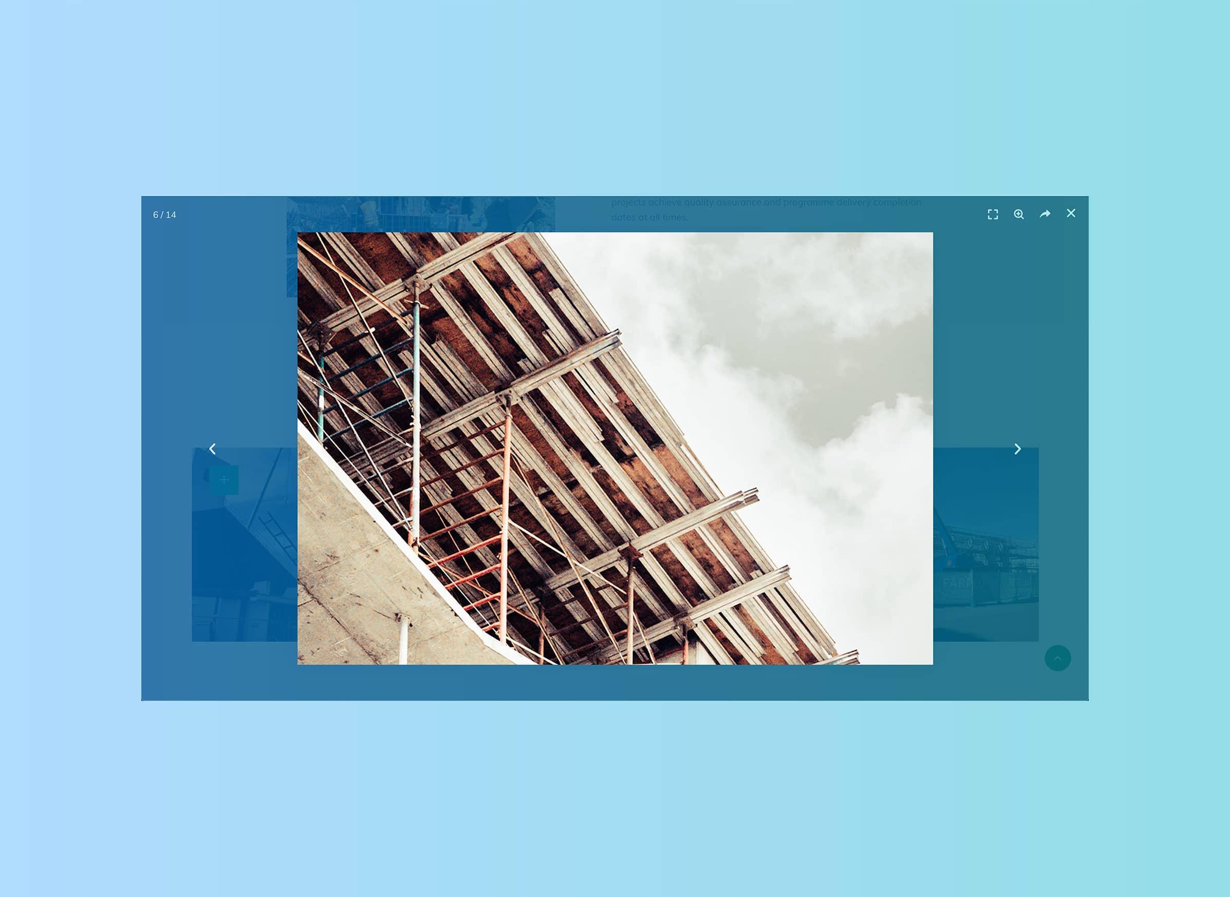 Beautiful construction websites