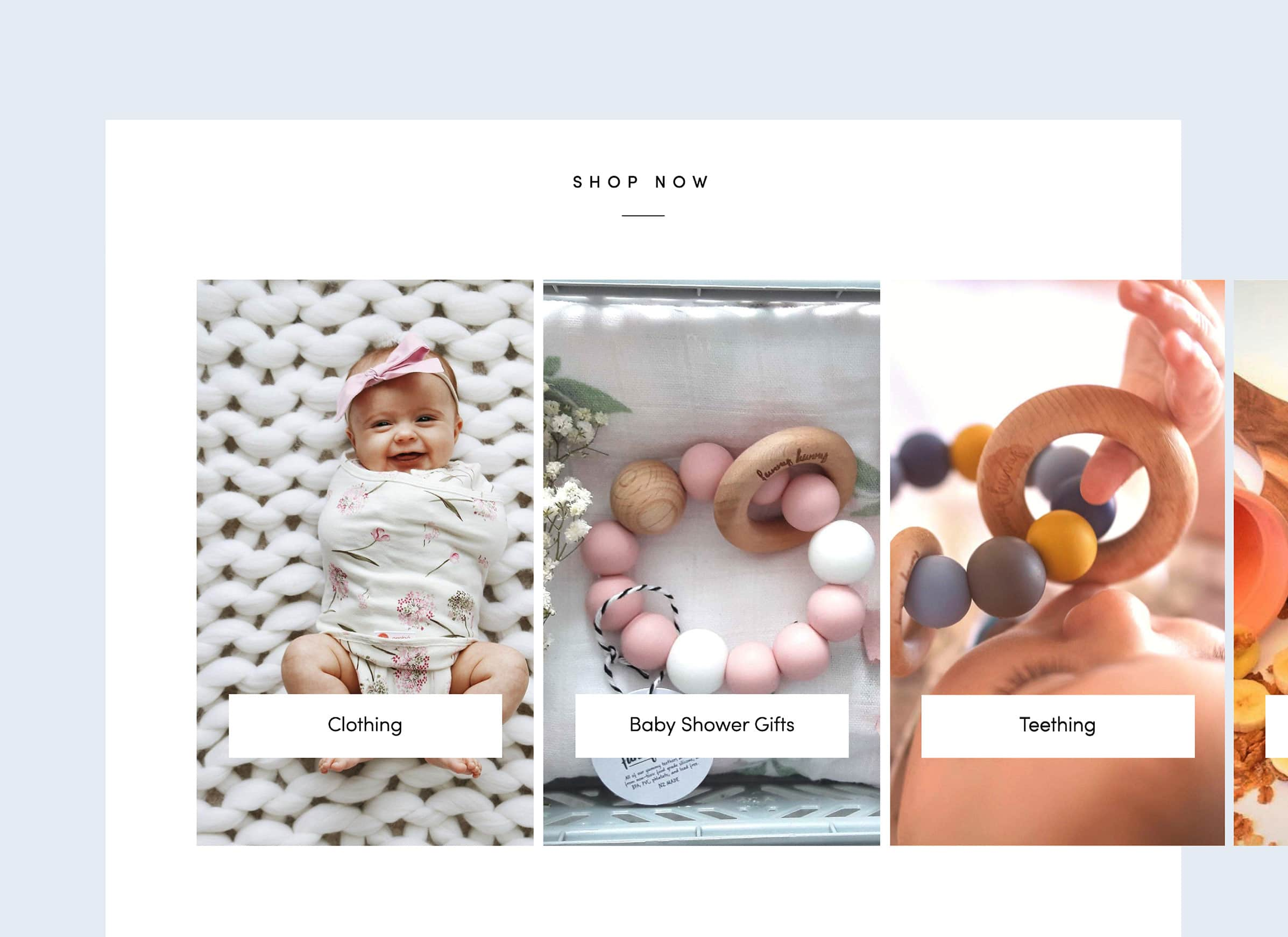Best ecommerce website design for baby and kids stores