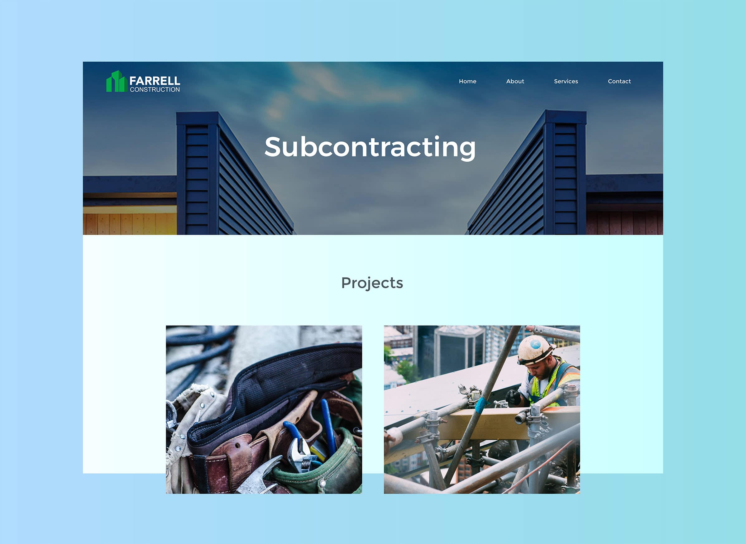 Construction and building website design in NZ