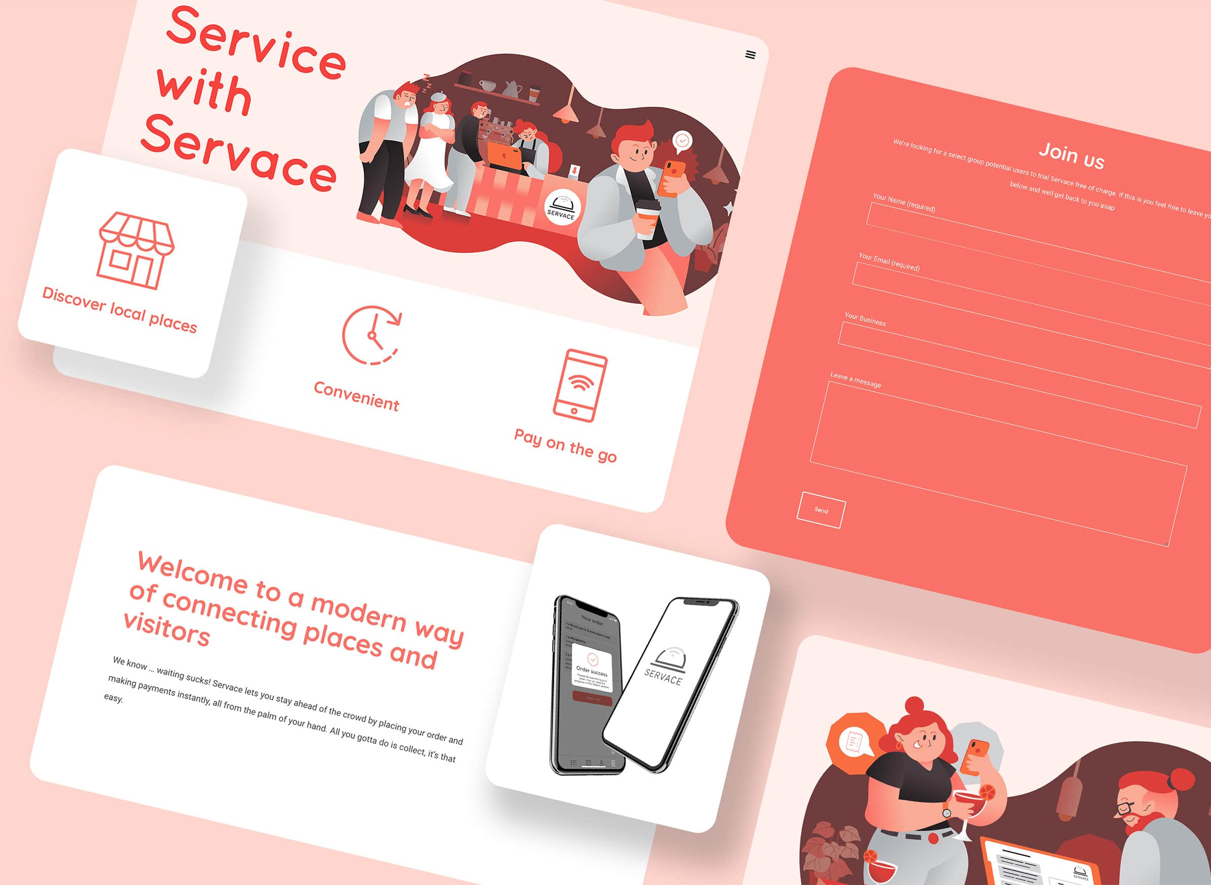 Icons for food delivery website