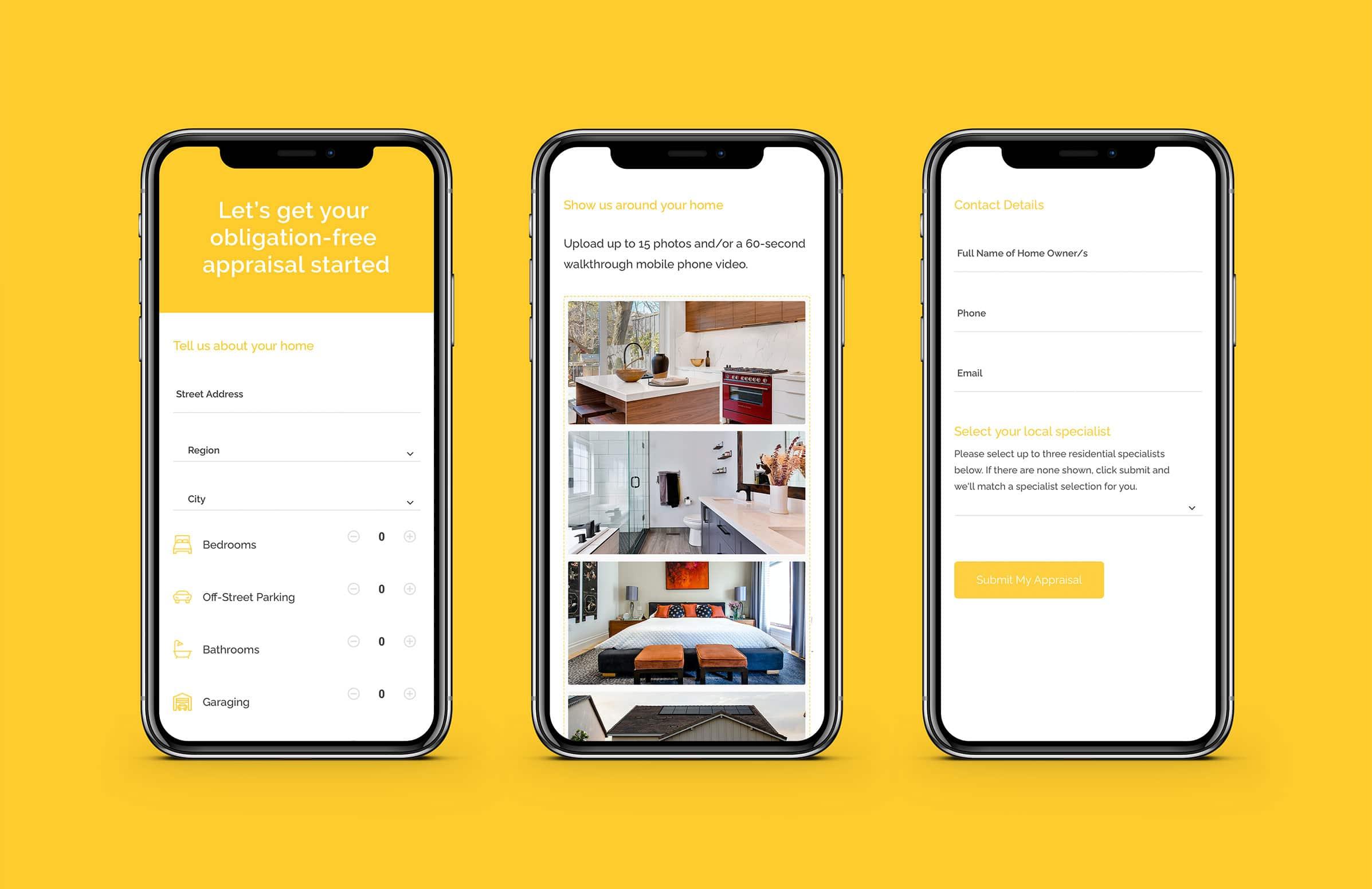 Home appraisal website design