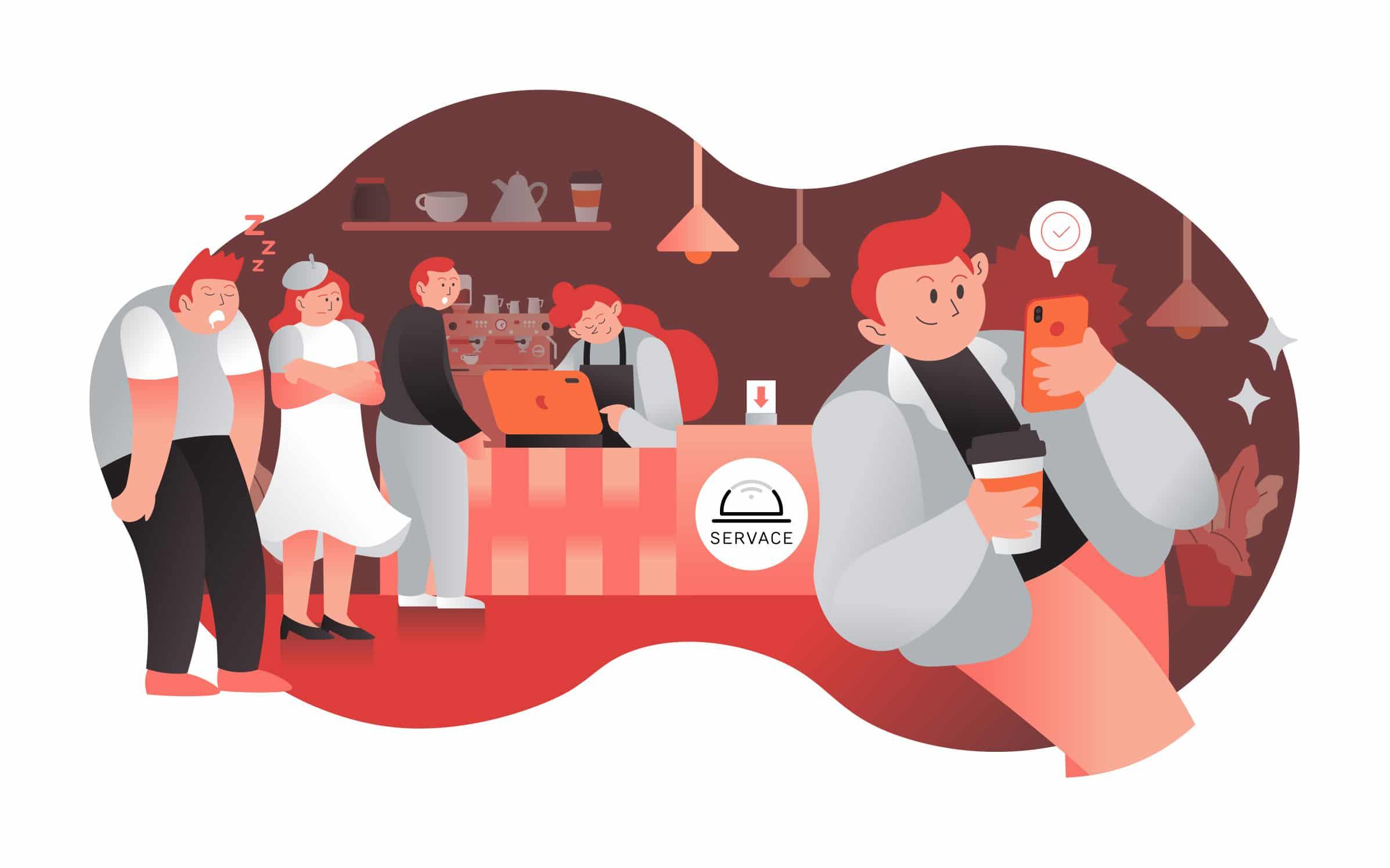 Modern illustration for food delivery app