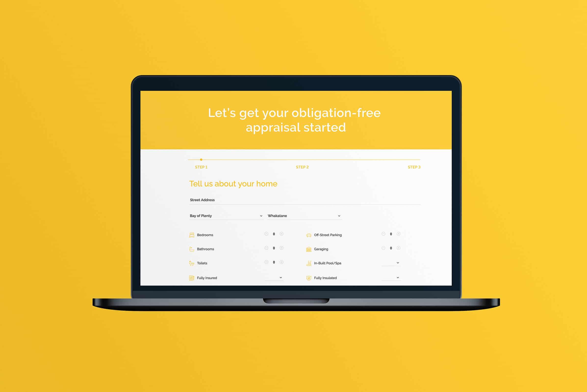 Real estate appraisal website design