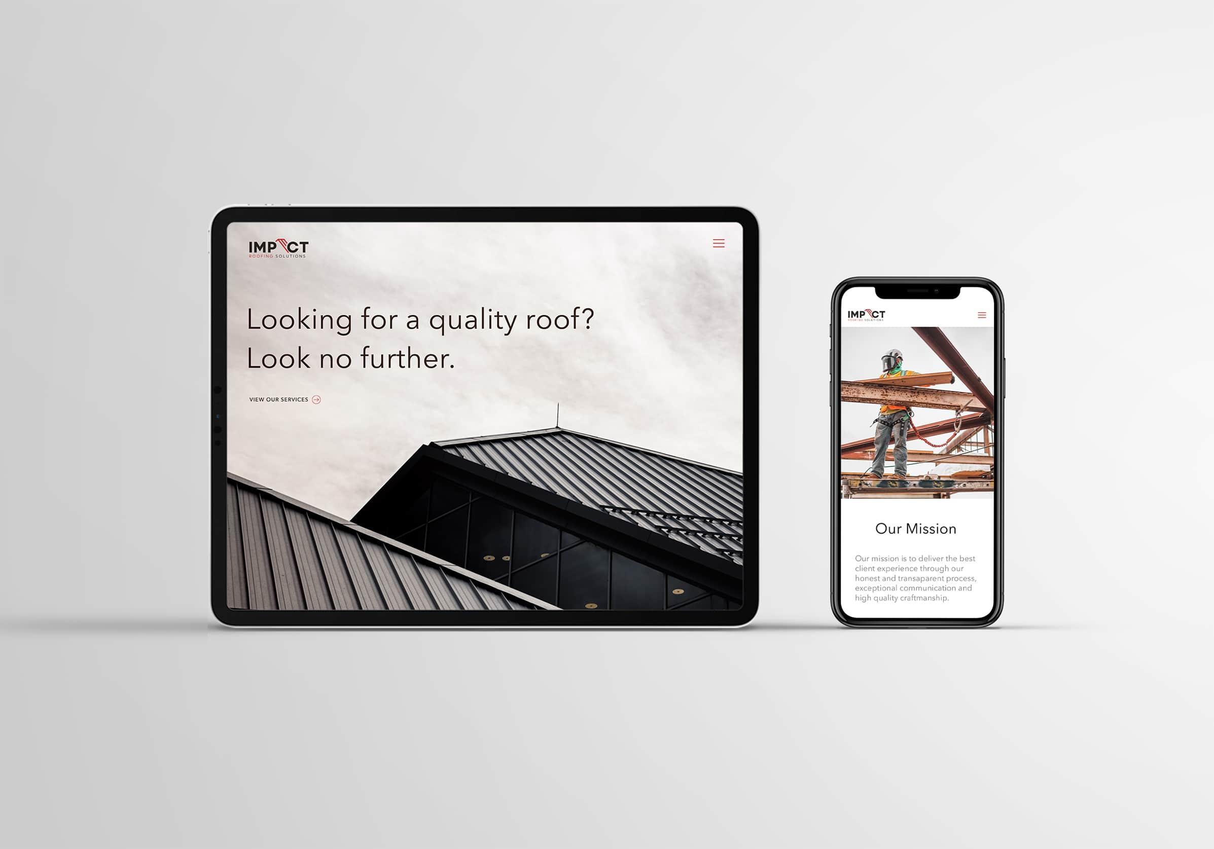 Roofing company website design