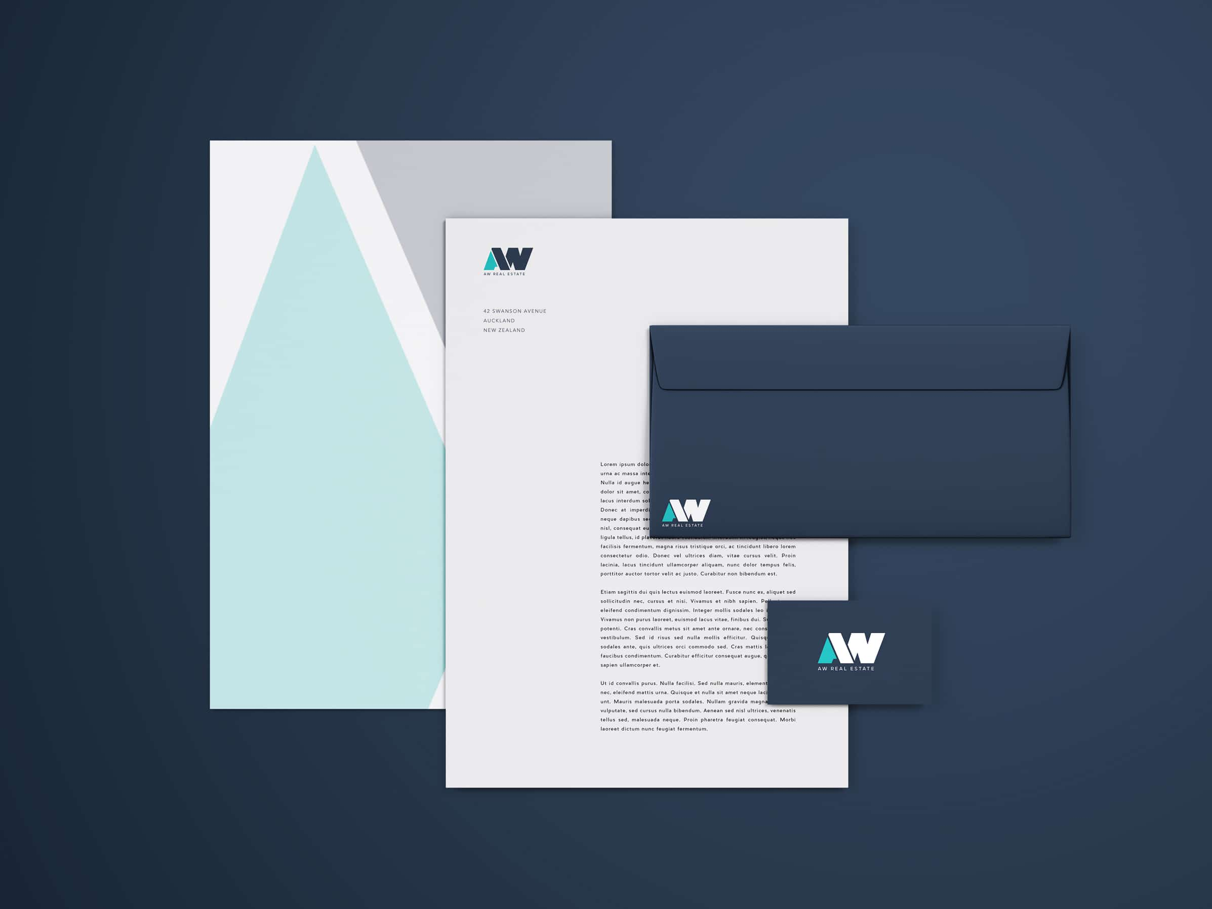 Company letterhead and stationery design in Wellington