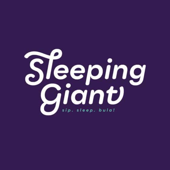 Purple beverage logo design