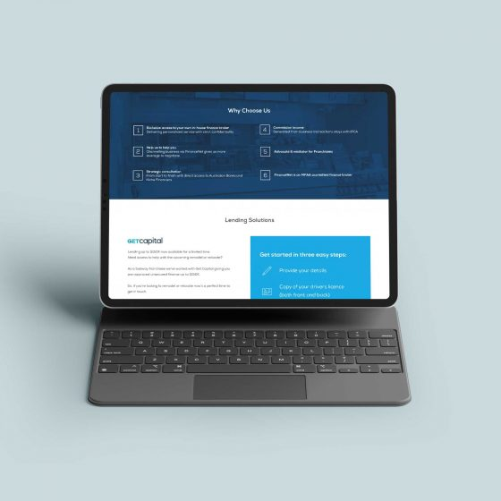 Clean and minimal finance website