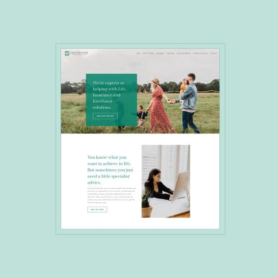 Clean and modern insurance company website created by our website designers
