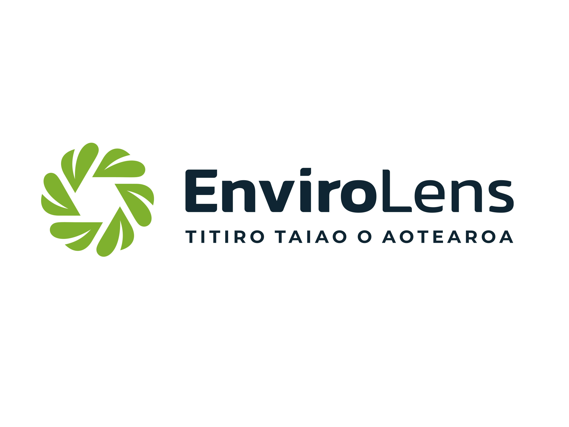 Nature inspired logo design in green and navy
