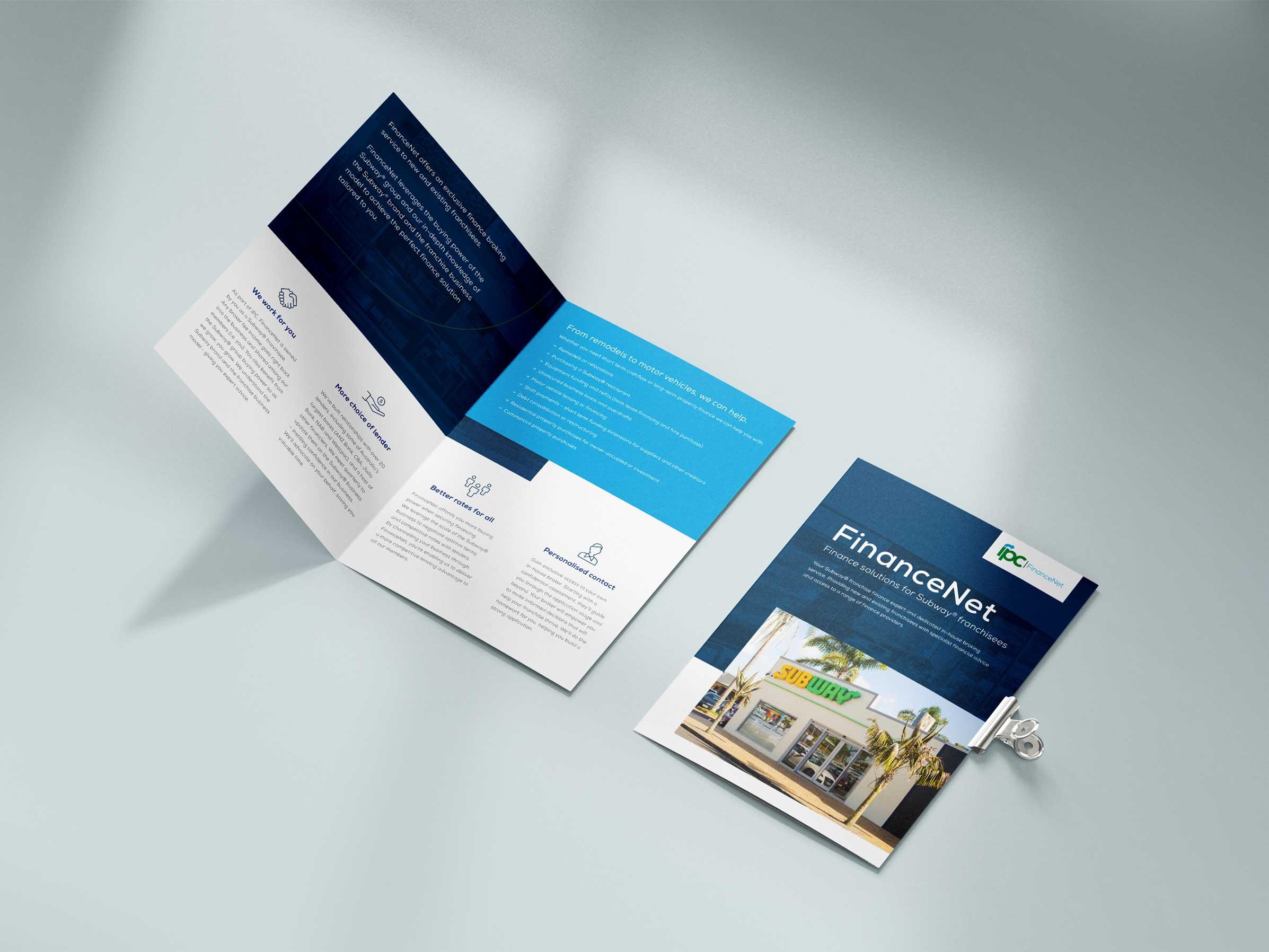 Subway brochure design layout
