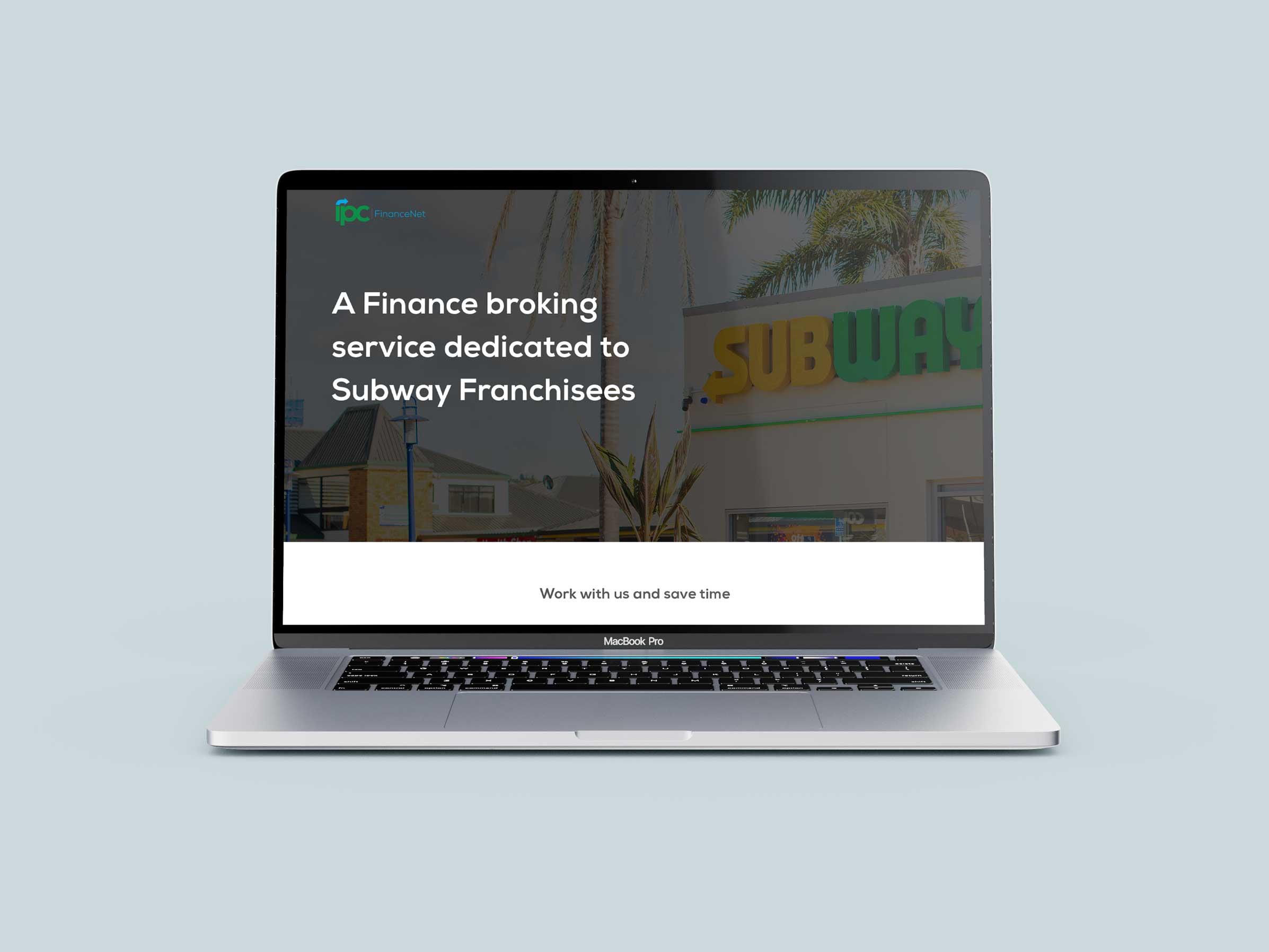 Subway restaurant website design