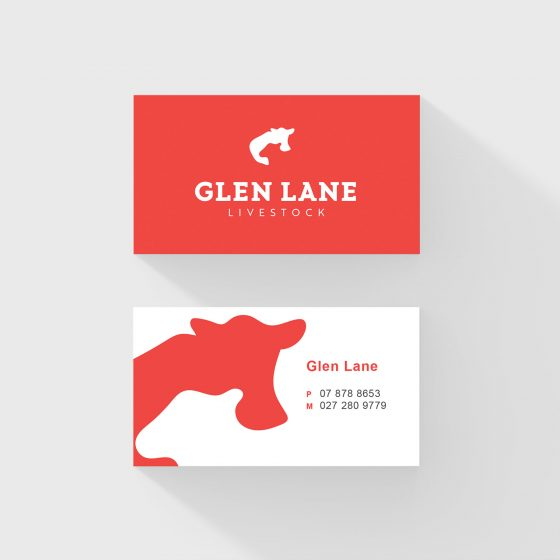 Business card design with animal silhouette