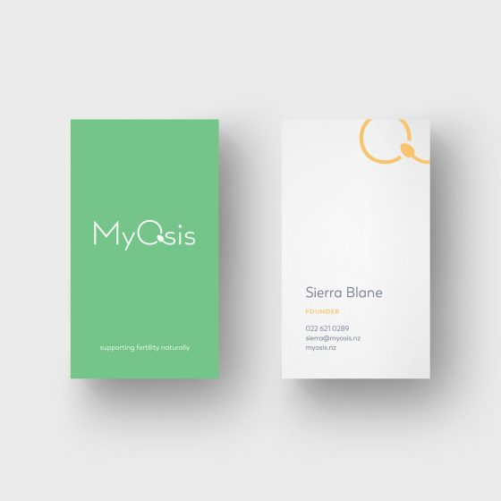 Vertical business cards with minimal design